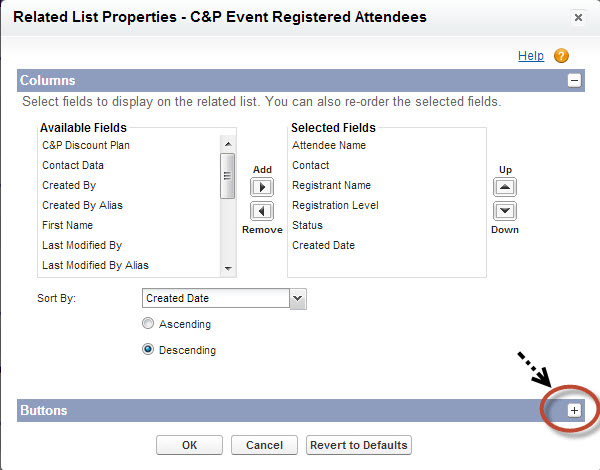C&P Event Registered Attendees Related List Properties